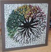 Meditation Glass Art - Change of Seasons by Shelly Bird