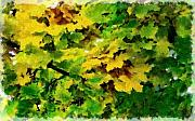 Autumn Trees Pastels Prints - Changing Leaves Print by Russ Harris
