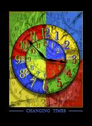 Yellow  Digital Art Posters - Changing Times Poster by Mike McGlothlen