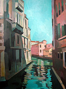 Venice Mixed Media Originals - Channel by Filip Mihail