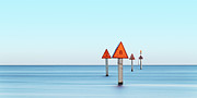 Gulf Coast States Framed Prints - Channel Markers Framed Print by Jorge de la Torriente
