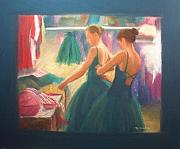 Dressing Room Framed Prints - Channeling Degas Framed Print by Diane Caudle