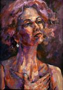 Singer Paintings - Chanteuse by Joan  Jones