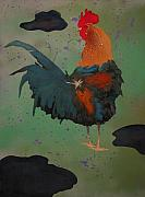 Cock Paintings - Chanticleer by Fred Chuang