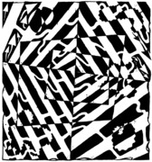 Optical Art Drawings Posters - Chaos Maze Optical Illusion Poster by Yonatan Frimer Maze Artist