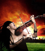 Violin Digital Art - Chaos Melody by Adro Von Crow