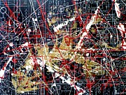 Mapping Paintings - Chaos Theory by Tara Baden