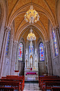Chapel At Sacred Heart Cathedral Print by Dave Mills