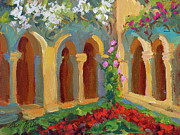 Wineries Paintings - Chapel at St. Remy by Diane McClary