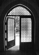 Monotone Prints - Chapel Door Print by Steven Ainsworth