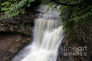 National Lakeshore Prints - Chapel Falls Print by Ted Kinsman