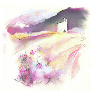 Churches Drawings - Chapel in Catalonia in Spain 01 by Miki De Goodaboom