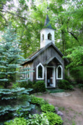 Wedding Chapel Framed Prints - Chapel in the Woods Framed Print by Joel Witmeyer