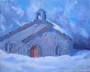 Switzerland Painting Originals - Chapel Of Assent by Bryan Alexander