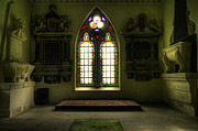 Scary Digital Art - Chapel Room by Svetlana Sewell