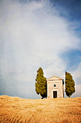 Siena Chapel Framed Prints - Chapel Vitaleta Framed Print by Just a click