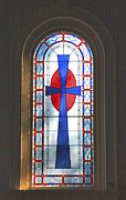 Indiana Photography Posters - Chapel Window Poster by Steven Ainsworth