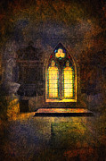 Church Pillars Posters - Chapel window Poster by Svetlana Sewell