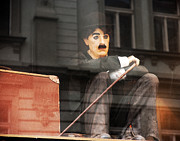 Eastern Europe Photos - Chaplin in Prague by John Rizzuto