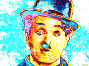 Charles Digital Art - Chaplin Pop by Juan Jose Espinoza