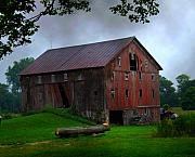 Barn Photos - Chapman Lake Barn by Michael L Kimble