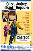 1960s Movies Posters - Charade, Top From Left Cary Grant Poster by Everett