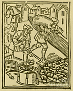 Charcoal Photos - Charcoal Burners, Medieval Tradesmen by Science Source