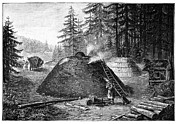 Turf Art - Charcoal Production, 19th Century by