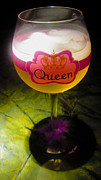 Pinot Grigio Prints - Chardonnay Queen Print by Cheryl Young