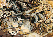 Boccioni Metal Prints - Charge Of The Lancers Metal Print by Pg Reproductions