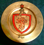 Family Coat Of Arms Art - Charger Biggs by Nancy Rutland