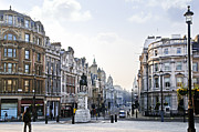 Lamppost Framed Prints - Charing Cross in London Framed Print by Elena Elisseeva