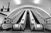 Escalator Prints - Charing Cross Tube Print by Fred Mott