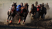 Chariot Framed Prints - Chariot Race Framed Print by Bob Christopher