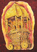Tamilnadu Paintings - Chariot truibute by Swarna Sitaraman