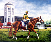 Jockey Paintings - Charismatic by Thomas Allen Pauly