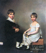 Origin Photo Posters - Charles And Catherine Darwin, 1816 Poster by Science Source