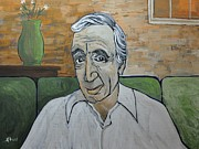 Singers Paintings - Charles Aznavour by Reb Frost