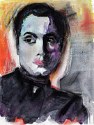 Film Mixed Media Prints - Charles Boyer The Way I See Him Print by Ginette Callaway