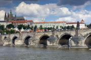 Charles River Art - Charles Bridge and Prague Castle by Andre Goncalves