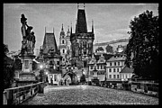 Charles Bridge Photo Framed Prints - Charles Bridge Dawn Framed Print by Jason Wolters