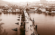 Www Framed Prints - Charles Bridge II Framed Print by John Rizzuto