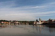 Vltava River Boat Prints - Charles Bridge Print by Ivy
