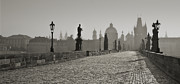 Charles Bridge Prints - Charles Bridge Print by Javier De la Torre