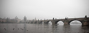 Charles Bridge Prints - Charles Bridge Panorama At Dawn Print by Alexandre Fundone