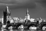 Prague Towers Prints - Charles Bridge Prague Czech Republic Print by Matthias Hauser