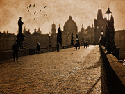 Charles Bridge Photo Framed Prints - Charles Bridge Prague Framed Print by Peter Daltrey