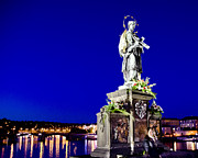Charles Bridge Photo Metal Prints - Charles Bridge Statue of St John of Nepomuk     Metal Print by Jon Berghoff