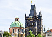Charles Bridge Prints - Charles Bridge Tower - Prague  Print by Jon Berghoff