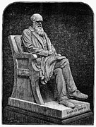 Statue Portrait Photo Prints - Charles Darwin (1809-1882) Print by Granger